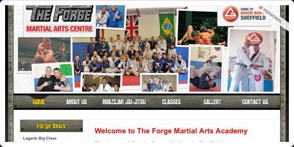 The Forge Martial Arts Center website