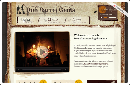 Don Barrell Gents website design